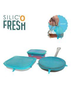 Silic' o Fresh - Grote silicone deksel - 3 stuks
