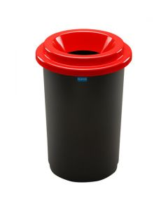 Plafor Eco Prullenbak 50L – Recycling – Rood