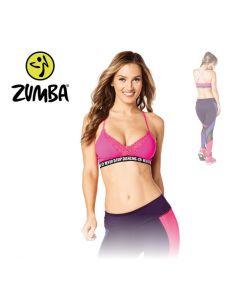 Zumba Never Stop Dancing Bra - Pink L