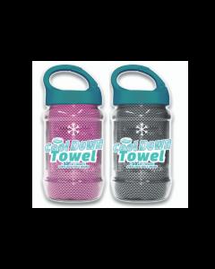 Cool Down Towel - Grey + Pink