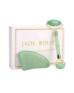 Orange Care - Jade Gezichtsroller – incl. Gua Sha steen