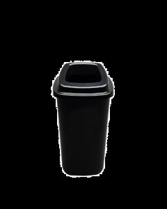 Plafor Prullenbak 28L – Recycling – zwart
