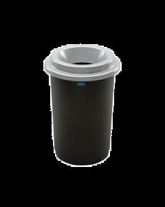 Plafor Eco Prullenbak 50L – Recycling – Zilver