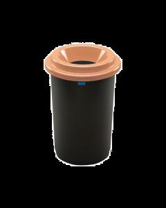 Plafor Eco Prullenbak 50L – Recycling – Bruin