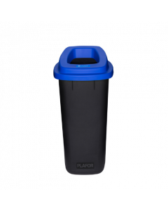 Plafor Prullenbak 90L – Recycling – Blauw